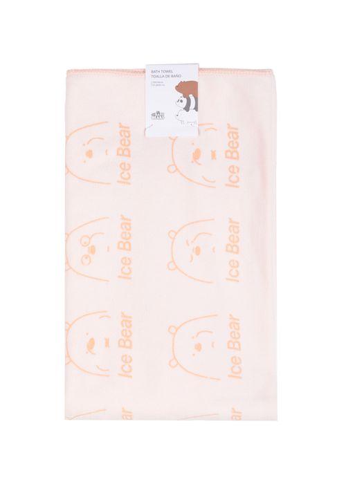 Toalla De Baño Ice Bears Naranja Rosa  We Bare Bears