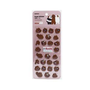 Plantilla de Stickers Engomado - We Bare Bears
