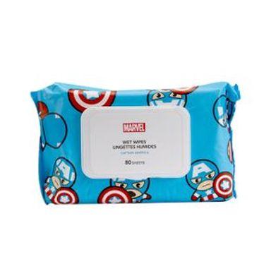 Paquete De Toallitas Húmedas Marvel Capitán América 80  Piezas