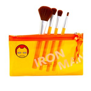 Set de brochas para maquillaje, Iron Man, Multicolor, Chico