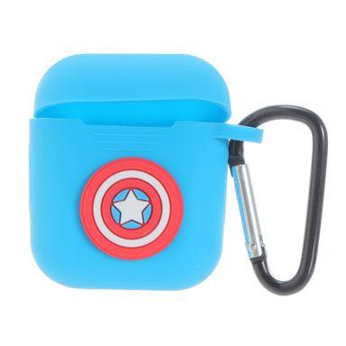 Estuche de Silicón  Marvel Del Capitán América Para Airpods