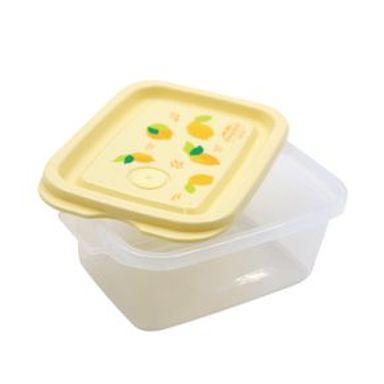 Contenedor De Plástico Fruit Series Diseño De Limón 3 Piezas