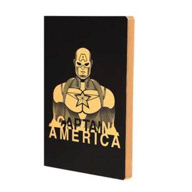 Libreta De Notas  Marvel Capitán América Dorado