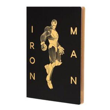Libreta De Notas  Marvel Iron Man Dorado
