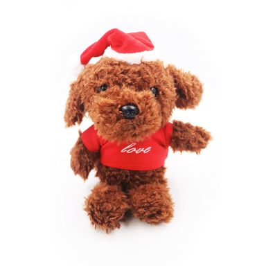 Peluche Teddy Parado Navideño