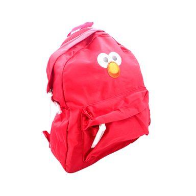 Mochila Sesame Street Elmo Escolar Con Tirante Reforzado Y Doble Cierre V1