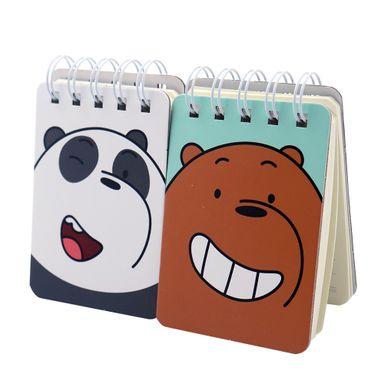 Paquete De Libretas De Notas We Bare Bears Con Espiral 100 Hojas 2 Piezas