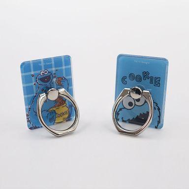 Soporte Para Celular Sesame Street Come Galletas Tipo Anillo Azul 2 Piezas