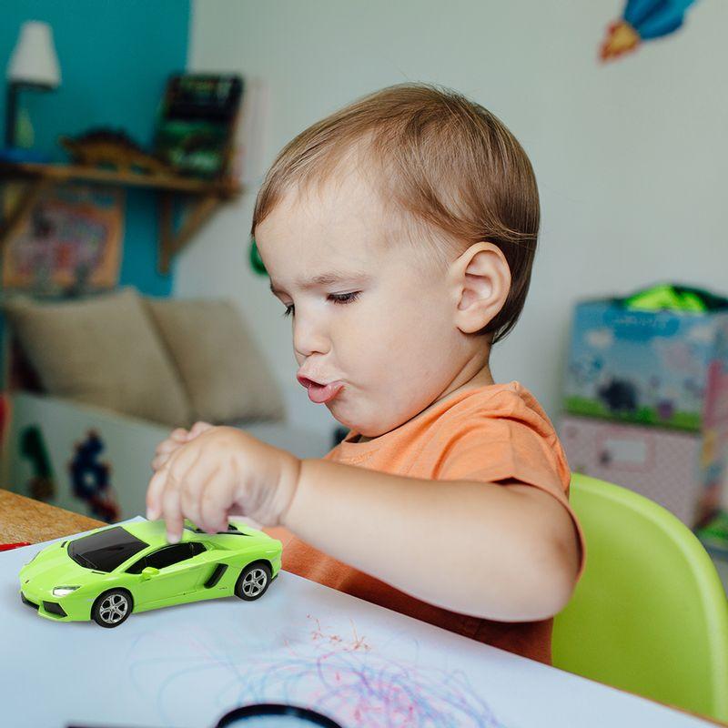Veh-culo-A-Escala-Modelo-Lamborghini-Aventador-Verde-18x9-cm-3-902