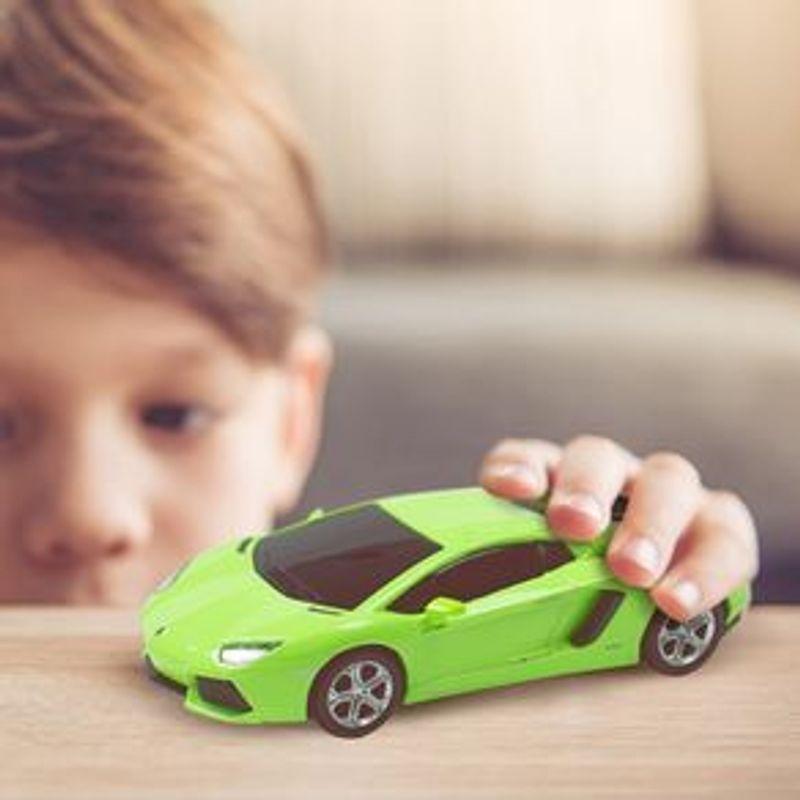 Veh-culo-A-Escala-Modelo-Lamborghini-Aventador-Verde-18x9-cm-4-902