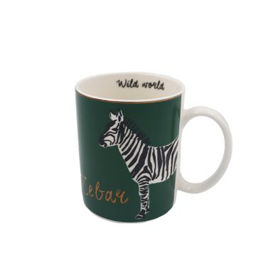 Taza Tropical Rainforest Series Estampado De Cebra