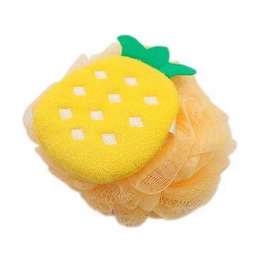 Esponja De Baño Fruit Series 2.0 En Forma De Piña Amarilla