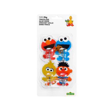Paquete De Ganchos Sesame Street Adhesivos, 4 Piezas