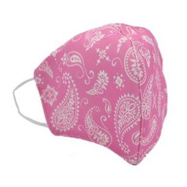 Cubrebocas De Tela Reusable Y Lavable Diseño Paliacate Rosa