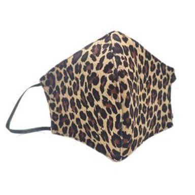 Cubrebocas De Tela Reusable Y Lavable Diseño De Leopardo