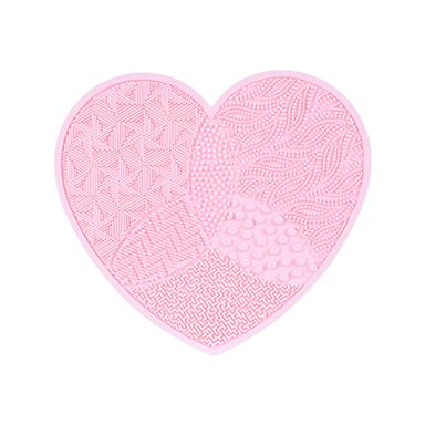 Tapete Lava Brochas De Maquillaje Silicón Rosa 17 cm