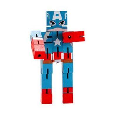 Juguete De Acción Marvel Capitán América De Madera, 16 x 8 cm