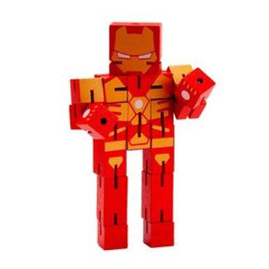 Juguete De Acción Marvel Iron Man De Madera, 16 x 8 cm