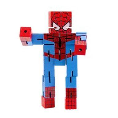 Juguete De Acción Marvel Spiderman De Madera, 16 x 8 cm
