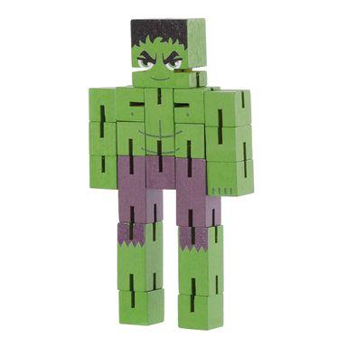 Juguete De Acción Marvel Hulk De Madera, 16 x 8 cm