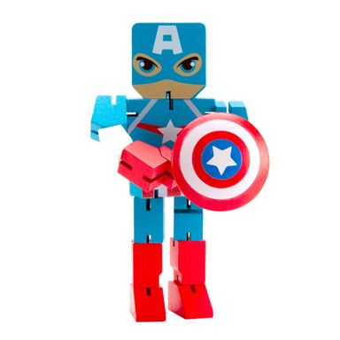 Juguete De Acción Marvel Capitán América De Madera, 22 x 14 cm