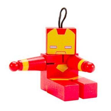 Juguete De Acción Marvel Iron Man De Madera, 12 x 11 cm