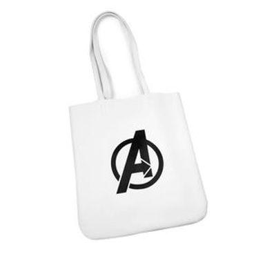 Bolsa Marvel Avengers Estilo Tote, De Tela Blanco