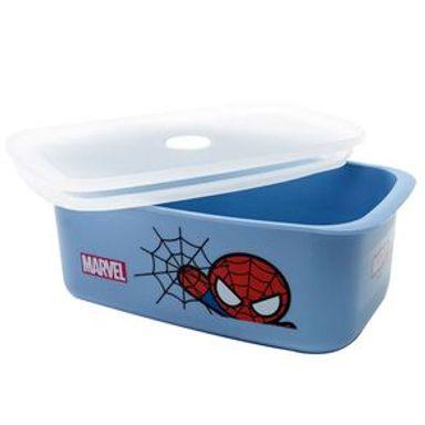 Contenedor Marvel Spiderman Para Alimentos, De Plástico Azul 950 ml
