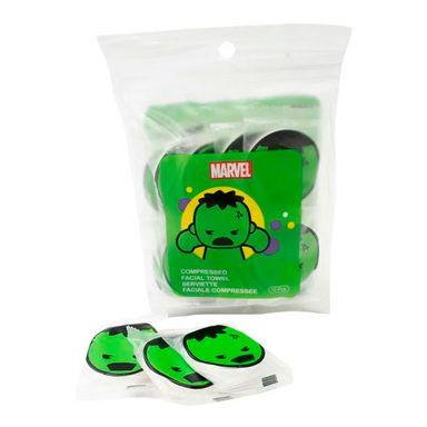 Toallitas Faciales Marvel Hulk / Thor Comprimidas, 10 Piezas