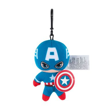 Llavero Marvel Capitán América Con Gancho, De Felpa