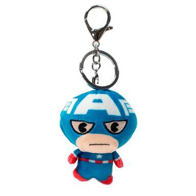 Llavero Marvel Capitán América  Cabezón, De Felpa