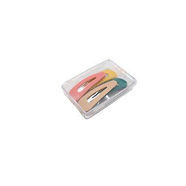 Paquete De Broches Para Cabello Forma de Gota Tipo Clip, Multicolor, 4 Piezas