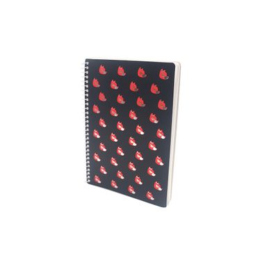 Libreta Xico Series  Xico Enmascarado Con Espiral A5  Negro Papelería 112 Hojas