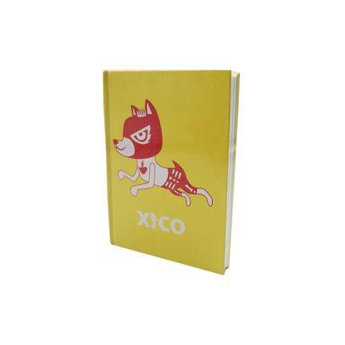 Libreta Xico Series Xico Enmascarado Pasta Dura A6 Amarillo Papelería 112 Hojas