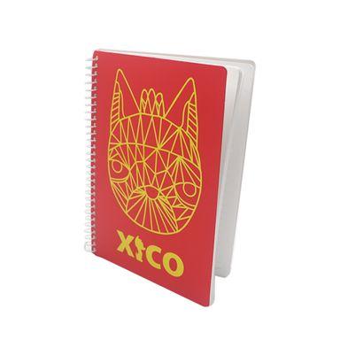 Libreta Xico Series Xico Líneas Con Espiral Rojo  21x14.5cm Papelería 60 Hojas