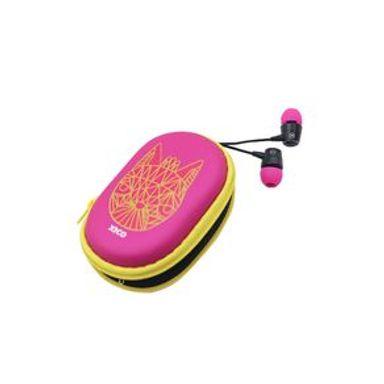 Audífonos Xico Series De Cable Con Estuche  HF219 Rosa La 15.5  x An 7.5 x Al 3.2 cm 0.06 G Tecnología