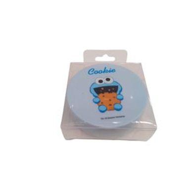 Estuche Para Lentes De Contacto Sesame Street Come Galletas Plástico Azul Moda