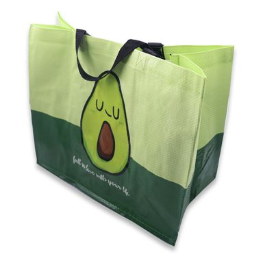 Bolsa De Regalo Fruit Series Aguacate Tela plástica Verde 40.2x35.2x1.9 cm