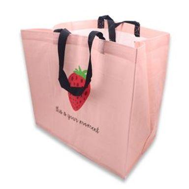 Bolsa De Regalo Fruit Series Fresa Tela plástica Rosa 40.2x35.2x1.9 cm