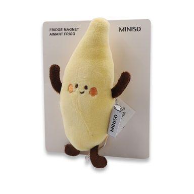 Imán Para Refrigerador Fruit Series Plátano Tela Amarillo Hogar
