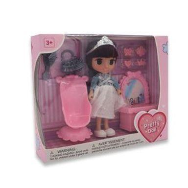 Muñeca Con Corona Pretty doll Plástico Gris Juguetería