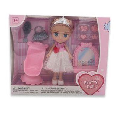 Muñeca Con Corona Pretty doll Plástico Rosa Juguetería