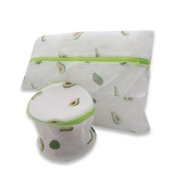 Bolsa De Lavandería Fruit Series Aguacate Blanco 25.3x21x3.7 cm Lavandería 2 Piezas