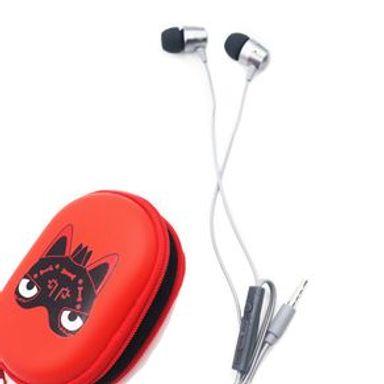Audífonos De Cable Xico Series Con Estuche HF219 Negro