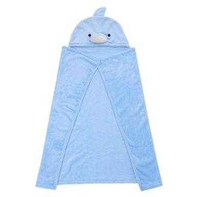 Manta Con Capucha  Delfín Azul 29x8 cm
