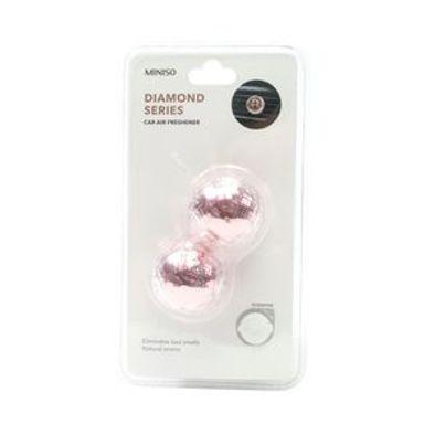 Aromatizante Para Auto Tipo Diamante (Pino) Rosa