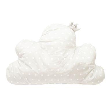 Almohada  En Forma De Nube Diseño Punteado Gris