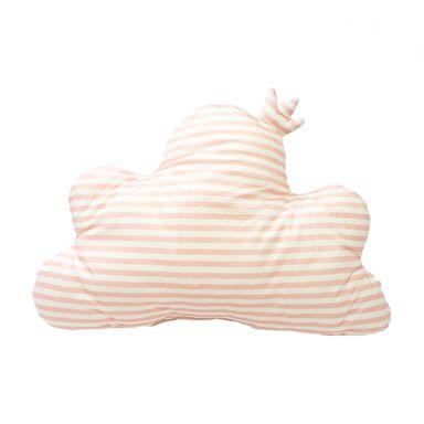 Almohada  En Forma De Nube Con Corona Rayada Rosa