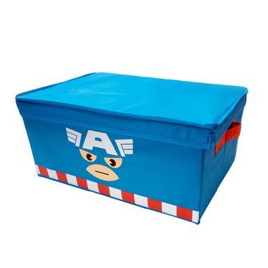 Caja De Almacenamiento Con Tapa Marvel Capitán América Tela 42x30x19 cm
