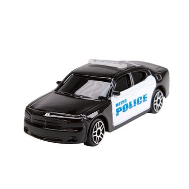 Carro De Juguete Dodge Policia Negro